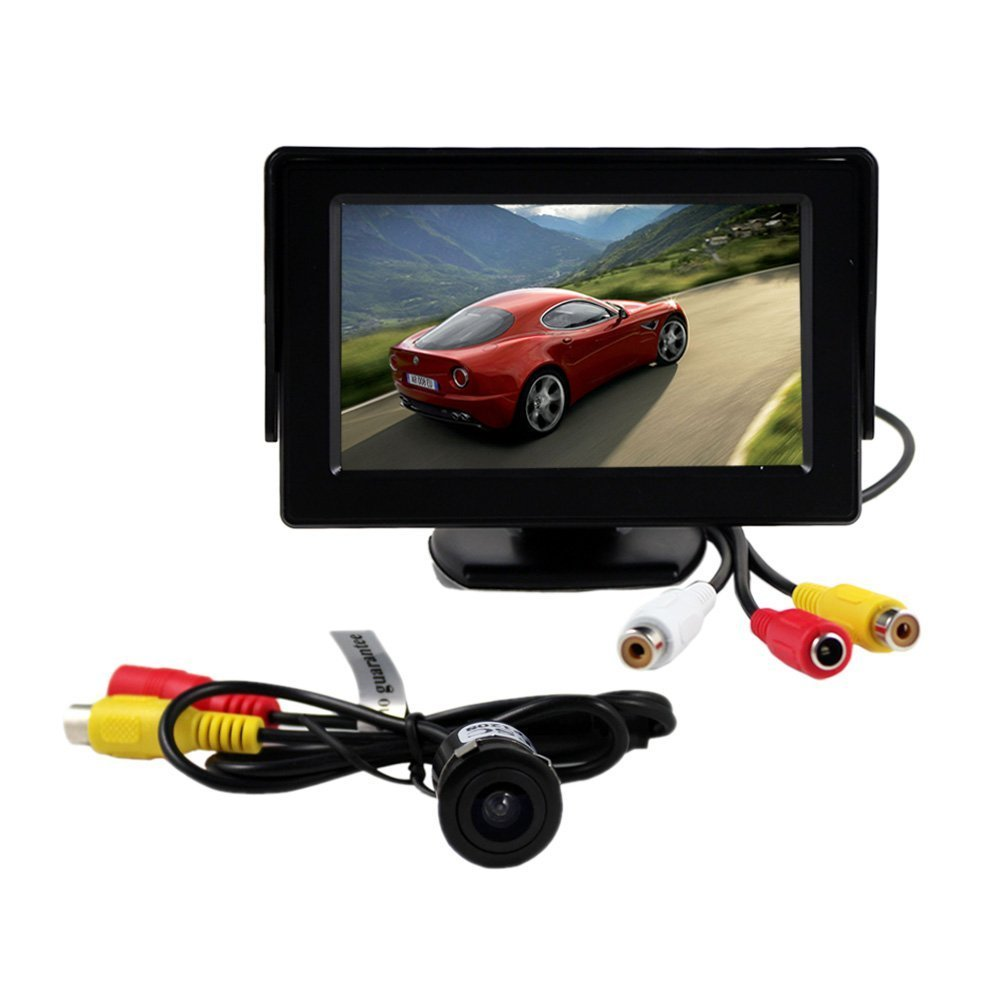 BW® 4.3 Inch TFT LCD Rearview Color Camera Monitor with 2 video Input And Car Rear View Camera