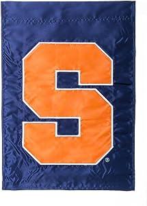 Team Sports America NCAA Syracuse Orange 17.5'' x 12.5'' Navy Blue Garden Flag