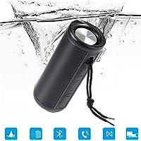Altavoz Bluetooth Portátil IP67 Impermeable Estéreo Altavoces Inalámbrico Bajo 360°Sonido Estéreo HD Construido en Micrófono Altavoz Inalámbrico Portátil Llamadas Manos Libres para iOS y Android