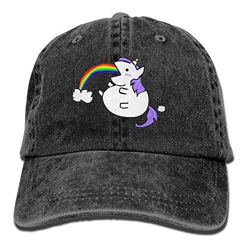LLTL Cute Fat Unicorn Washed Retro Cowboy Hat