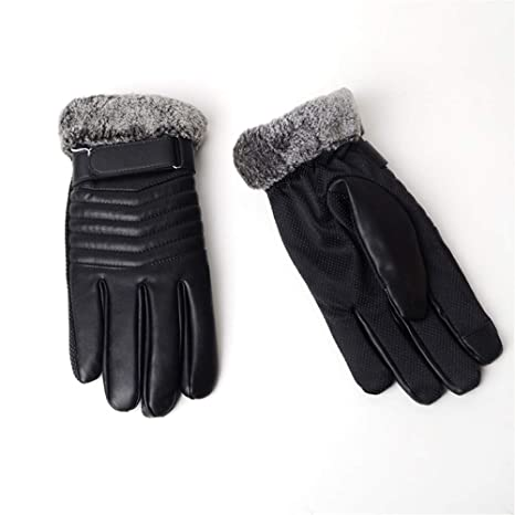 2f3d54eaa45 DXYAN Women s Screen Gloves Warm Lined Thick Touch Warmer Winter Gloves (Black-F)
