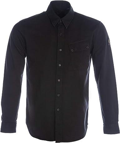Belstaff Hombres Swill Camiseta Tejida Pitch Negro