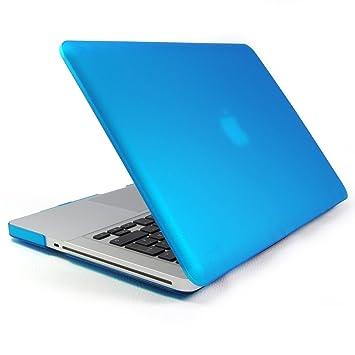 Incutex funda para ordenador portátil para Apple MacBook, rígida azul claro
