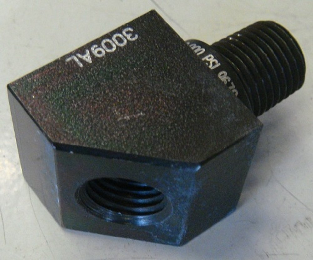 SPX Power Team 9678 45 degree Fitting with 3/8' NPTF Male x 1/4' Female SPX Power Team Corporation