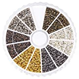 Pandahall-3000-piece-6-Colors-Mixed-Tube-Crimp-End-Beads-2mm-Bracelet-Loose-Beads-Spacer-Jewelry-Making-End-Caps-Silver-Antique-Bronze-Platinum-Red-Copper-Gold-Black