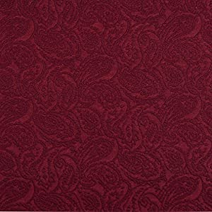 Amazon Com E572 Burgundy Paisley Jacquard Woven