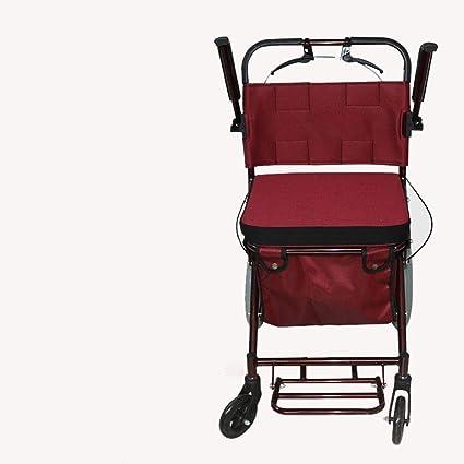 4 ruedas carrito de la compra plegable de metal antiguo ocio Compras cuatro rueda Scooter Walker