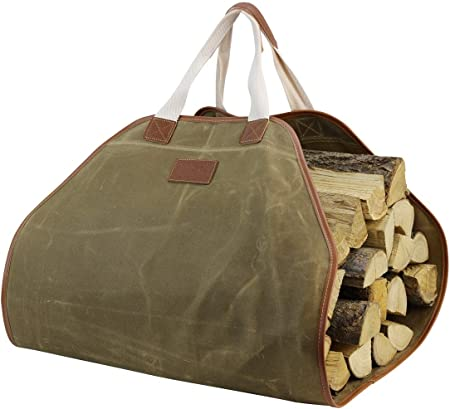 Extra Grande para la Le/ña con Asas para Camping Resistente Madera Tote Innostage Lienzo Log Bolsa de Transporte Chimenea Estufa Accesorios