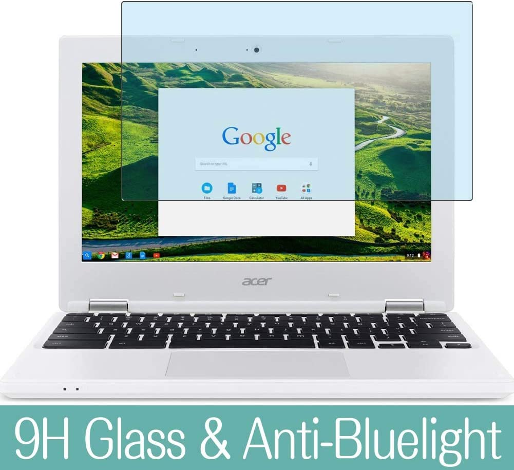 """Synvy Anti Blue Light Tempered Glass Screen Protector for Acer Chromebook 11 CB3-131-C3SZ 11.6"""" Visible Area 9H Protective Screen Film Protectors"""