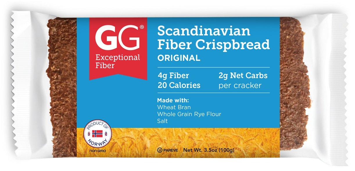 GG Scandinavian Fiber Crispbread, Original, 30 Count