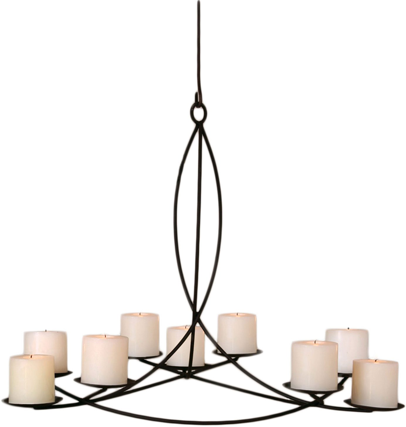 HomArt Odeon Wrought Iron Pillar Candle Chandelier by HomArt