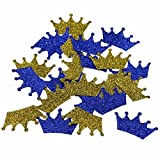 Baby : CraftBoutique Prince Gold Crown Blue Confetti Prince Baby Shower Birthday Party Decorations, Royal Prince Boy Confetti,Gold, Blue