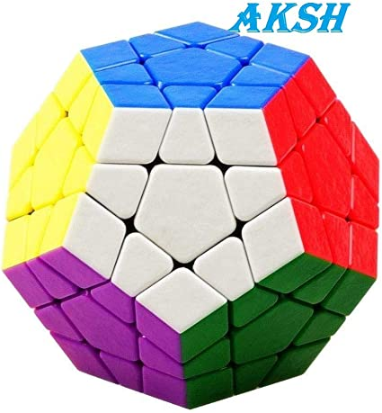 AKSH Shengshou Pentagon Smooth Stickerless Megaminx Speed Cube (Color May Vary) (Pentagon Cube)