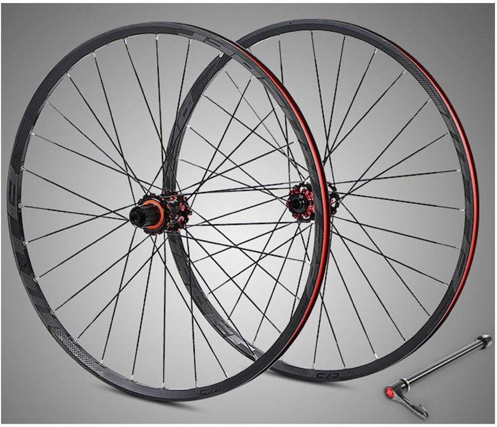 WCS Bicicleta de Carreras Todoterreno BTT llanta 27,5 Pulgadas Frenos de aleación de Aluminio de Doble Pared de Bicicletas de Ruedas de Disco de Fibra de Carbono Hub 8-11 Velocidad