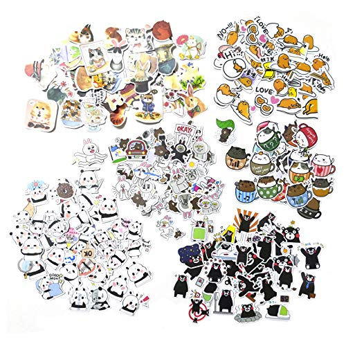Animals Planner Stickers 250pcs Assorted No Repeats, Cutest Cat Bear Rabbit Hamster Decorative Sticker Collection for Scrapbooking,DIY Crafts,Album and Bullet - Stickers Bunny Rabbit