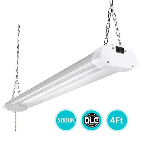 4ft LED Utility Shop Lights for Garage, 40W Bright Plug-in LED Shop ...
