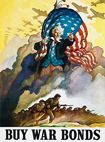 Amazon Com Buy War Bonds 1942 World War Ii Propaganda Poster