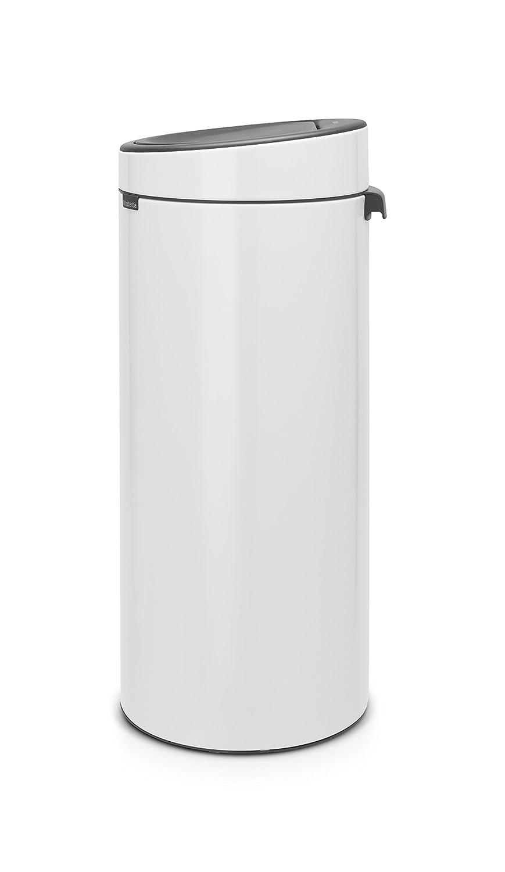 Brabantia Touch Bin 30 Liter.Brabantia Touch Bin New 30 Litre White Amazon Co Uk Kitchen Home