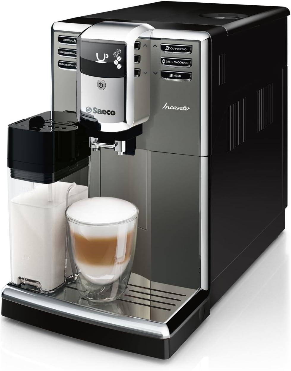 Saeco Incanto HD8918/41 - Cafetera (Independiente, Máquina espresso, 1,8 L, Molinillo integrado, 1850 W, Negro, Plata): Amazon.es: Hogar
