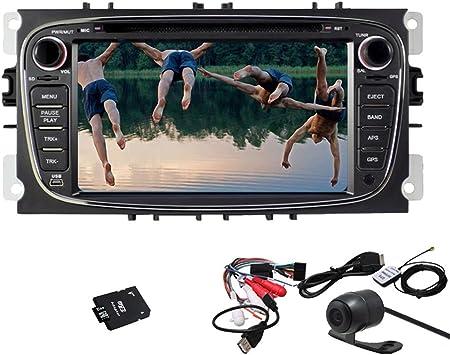 Unidad navegador BT TV Cabeza del automóvil Auto Radio Pupug cámara trasera Android 4.2 del coche
