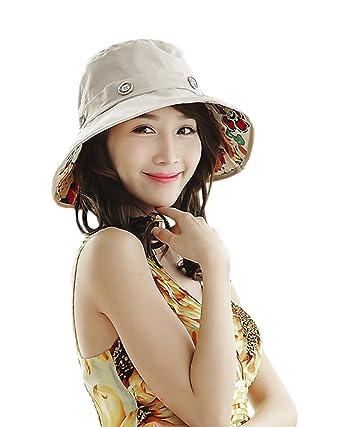 dcef14651222d Femme Mode Chapeau Soleil Anti-UV Capeline à Large Bord Deux Faces Panama  pour Femme