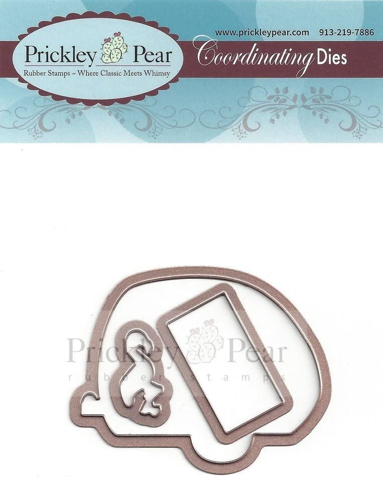 Prickley Pear Ham Camper Clear Cling Stamp and Die Set # CLR068 and PPRS-D-068 Bundle 2 Items