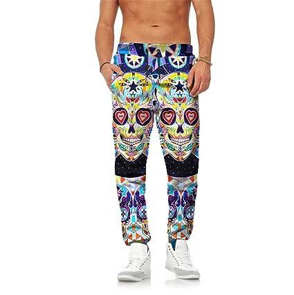 STEAM PANDA Pantalones de chándal Pantalones elásticos de los Hombres ca9f8096ee43