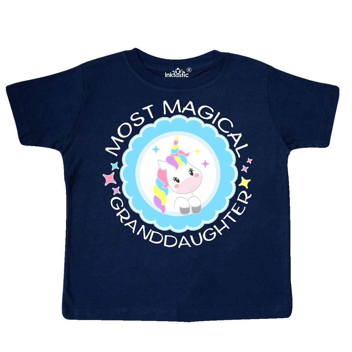 inktastic Most Magical Granddaughter Cute Unicorn Badge Toddler T-Shirt