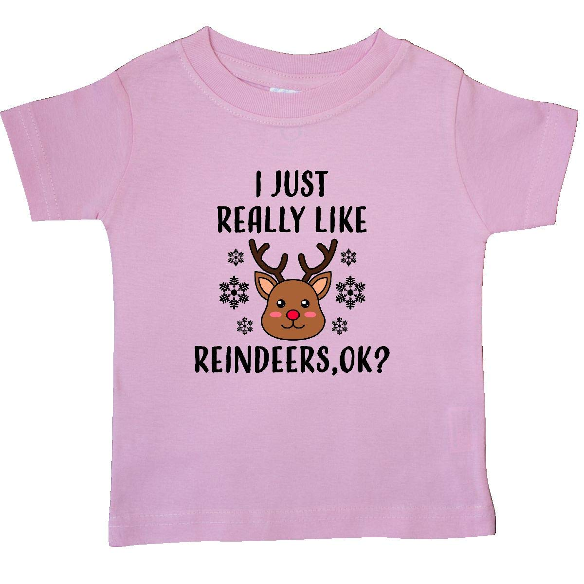inktastic I Just Really Like Reindeers Ok Baby T-Shirt