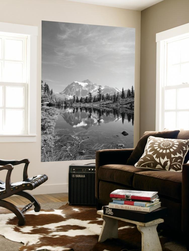 Mt Shuksan with Picture Lake, Mt Baker National Recreation Area, Washington, USA Wall Mural by Stuart Westmorland 48 x 72in