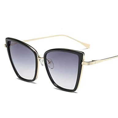 f675b6749e3f5 Amazon.com  Retro Big Cat Eye Sunglasses Women Black Mirror Sun Glasses  Brand Designer Vintage Sunglass