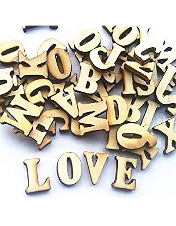 Leisial 100 Piezas de Madera Capital Scrabble Azulejos Alfabeto Letras Números para Manualidades Joyas Hacer Artes