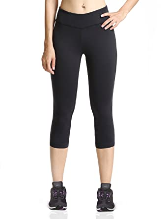 Amazon.com: Baleaf Women's Yoga Capri Legging Inner Pocket Non See ...