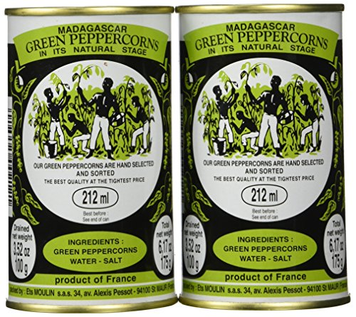 Madagascar Green Peppercorns in Brine - Pack 2 ()