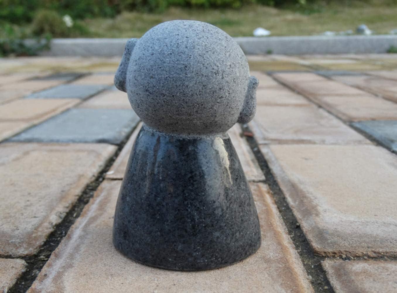 Escultura de escritorio Jizo monje estatua japon/és jizo monje mini estatua sonrisa escultura jizo jard/ín artesan/ía modelo figurilla mesa decoraci/ón