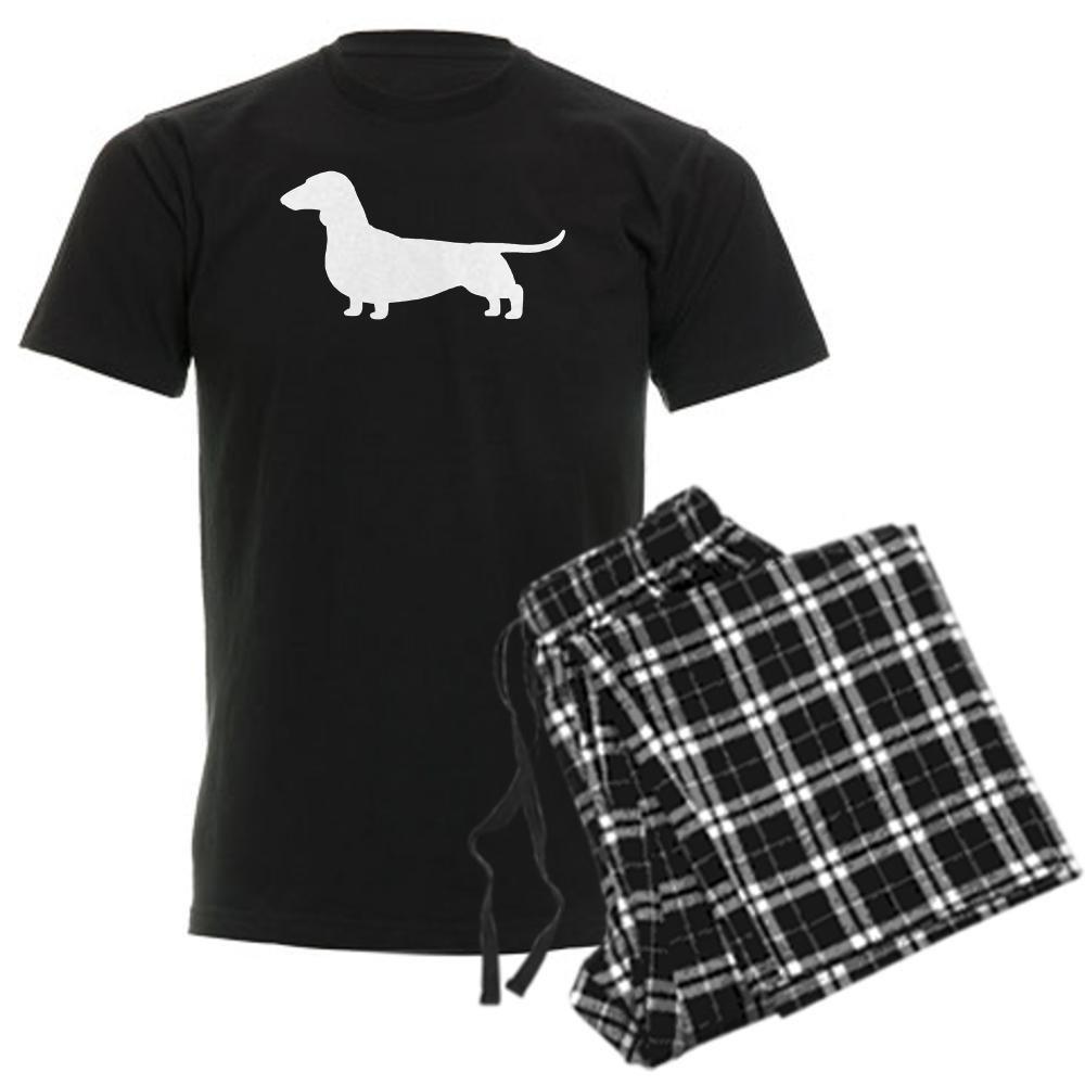 CafePress Dachshund Silhouette Mens Dark Pajamas Pajama Set