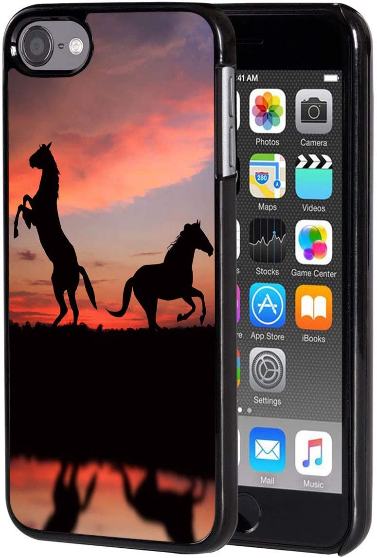 iPod Touch 6 Case,Vobber Shockproof Architecture Hard Plastic Protective Case Cover for Apple iPod Touch 6th Generation,Sunset Horse
