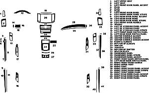 Rvinyl Rdash Dash Kit Decal Trim for Infiniti G37 2010-2013 (Sedan) - Carbon Fiber 4D (Black)