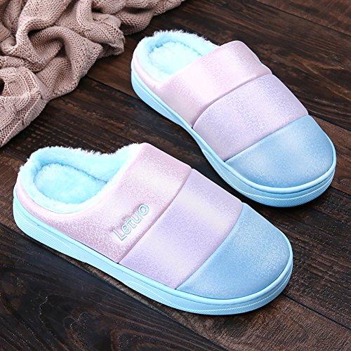Chaud Studio Coloré Sk Slippers Chaussures Hiver Unisexe Ciel Chaussons Intérieur Pantoufles Bleu Mules Maison E6n6dZB
