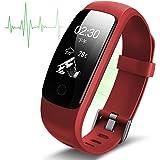 Podometre Bracelet Non Connecté,Gps Trackers D'activité Montre Cardiofréquencemètre,Bluetooth 4.0 Smartwatch Sport Cardio Imperméable Ip67 Podomètre /contrôle De La Musique/ Alarme/calories/tracker Sommeil/notification For Ios Android