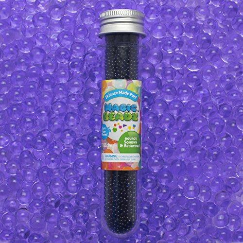 Magic Beadz - Purple Gel Water Beads - Transparent Jelly Pearls - Vase Filler - Wedding Centerpiece - Candles - Flower Arrangements - Resealable ()