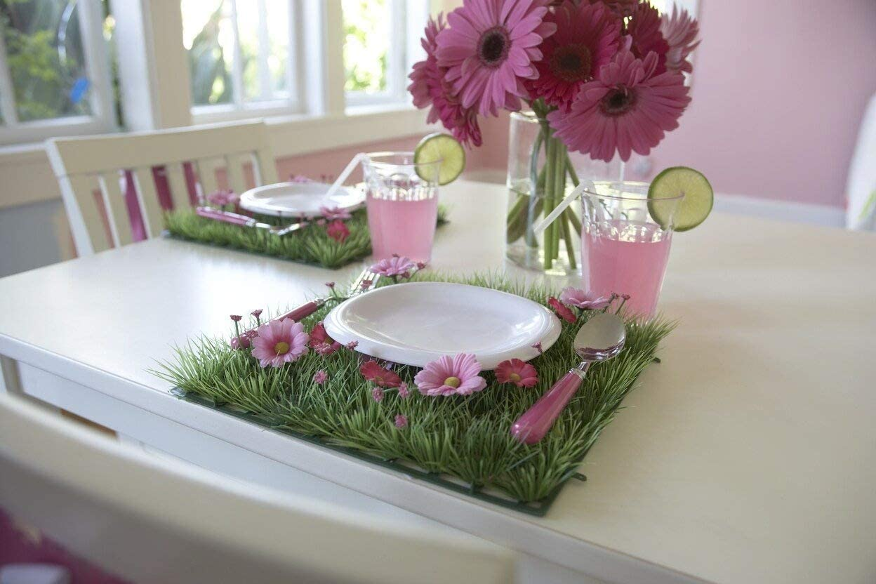 4 Pcs Party Table Decorations Table Decor Flower Placemat For Girls Flower Party