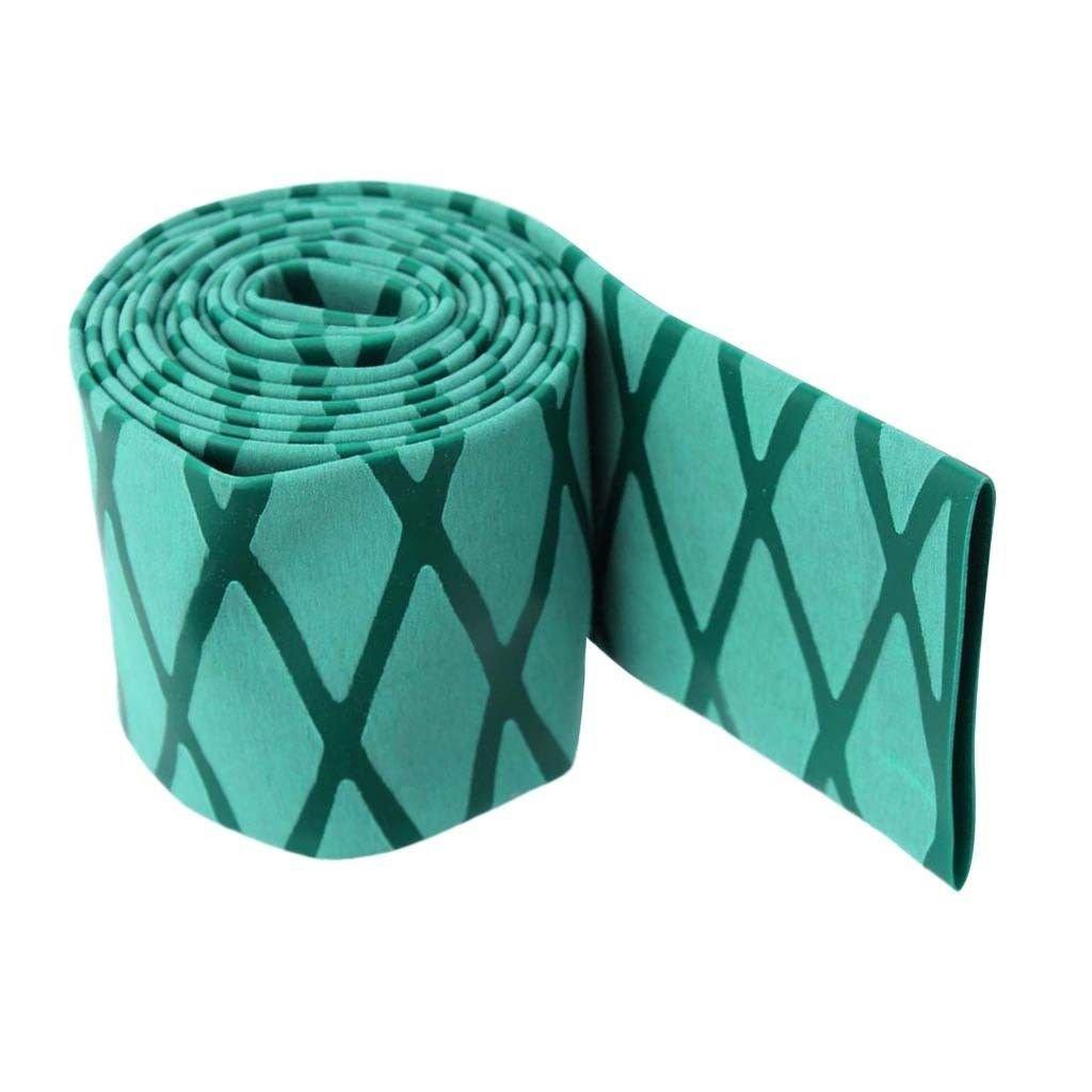 eTekGo X-Tube Heat Shrink Wrap Tubing 39''&64'' Lengths for Rod Grips-5 Color 14 Sizes (Green, Diamter:45mm; Length:39'')