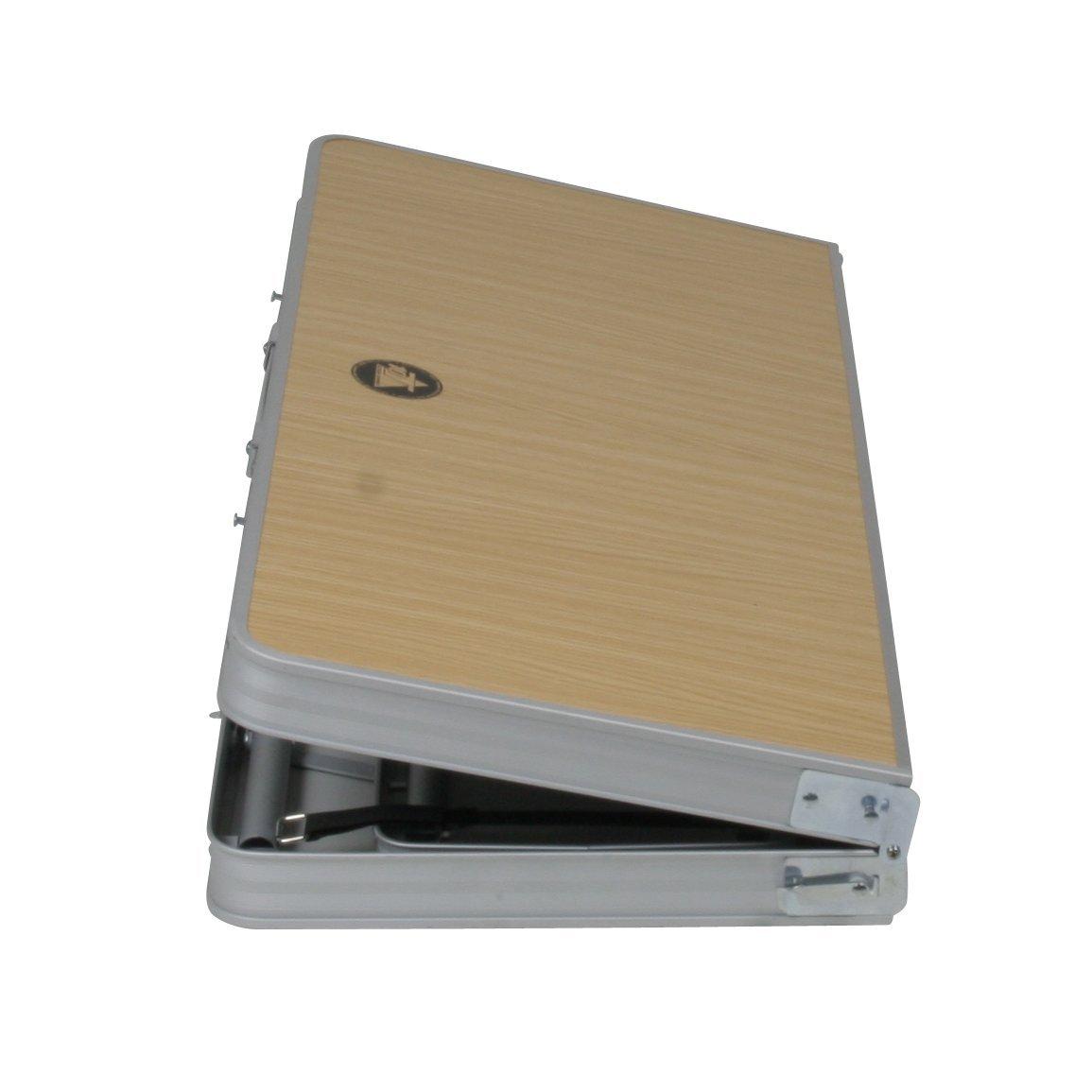 Unisex Est/ándar 10T Portable Bench Mesa de Camping Plateado