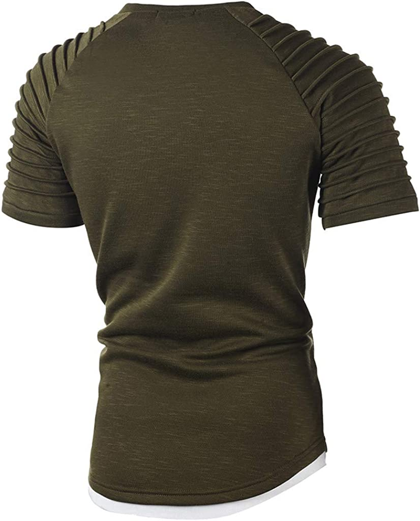 Slim Fit Shirt for Men,Mens Fashion Gradient Color O Neck Long Sleeve Muscle T-Shirt Tops Blouse Pullover Tee Shirts