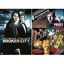 Corruption 5 Film Favorites DVD Training Day / 16 Blocks / Running Scared / Pride and Glory & Broken City 2 pack Movie Bundle