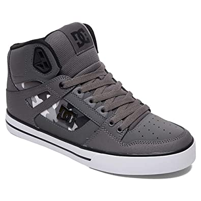 bda914ff83 DC Men s Pure HIGH-TOP WC SP Skate Shoe Gun Metal White 6 M