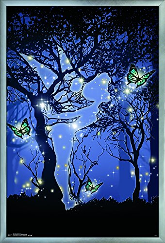 Trends International Tinker Bell-Silhouette Wall Poster, 24.25