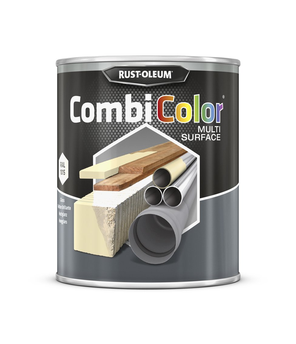 RUST-OLEUM 7342MS.0.75 Combicolor Multi-Surface, One Paint, Many Surfaces, Clear ivory-RAL 1015