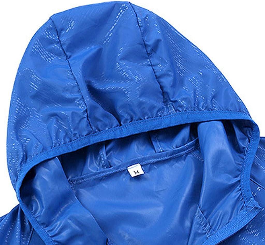 Strungten Unisex Super Leichte Hoodie Regen Jacke Schnell Trocken Winddicht Windbreaker Haut Mantel Outdoor Sports Sonnenschutz Softshell Jacke D/ünne Fahrradjacke Regenjacke